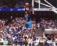 Larry Johnson Signed Hornets 8x10 Photo (PSA COA) at PristineAuction.com