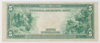 1914 $5 Five-Dollars Blue Seal U.S. Large-Size Federal Reserve Note at PristineAuction.com