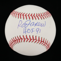 "Rod Carew Signed OML Baseball Inscribed ""HOF 91"" (Beckett COA) at PristineAuction.com"
