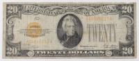 1928 $20 Twenty-Dollars U.S. Gold Certificate Bank Note (AA Block) at PristineAuction.com