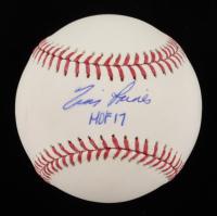 "Tim Raines Signed OML Baseball Inscribed ""HOF 17"" (JSA COA) at PristineAuction.com"
