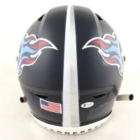 "A. J. Brown Signed Titans Full-Size SpeedFlex Helmet Inscribed ""Titan Up"" (Beckett COA) at PristineAuction.com"