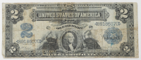 1899 $2 Two-Dollars U.S. Silver Certificate Large-Size Bank Note at PristineAuction.com