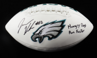 """Jason Kelce Signed Eagles Logo Football Inscribed """"Hungry Dogs Run Faster"""" (JSA COA) (See Description) at PristineAuction.com"""