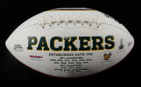 Davante Adams Signed Packers Logo Football (Beckett COA) (See Description) at PristineAuction.com