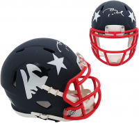Tom Brady Signed New England Patriots AMP Alternate Speed Mini-Helmet (Fanatics Hologram) at PristineAuction.com