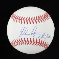 "Nolan Ryan Signed OML Baseball Inscribed ""7 No Hitters"" (Beckett COA, Ryan Hologram & AIV Hologram) at PristineAuction.com"