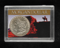 1885 Morgan Silver Dollar With Display Case at PristineAuction.com