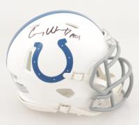 "Carson Wentz Signed Colts Speed Mini Helmet Inscribed ""AO1"" (Fanatics Hologram) at PristineAuction.com"