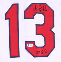 "Omar Vizquel Signed Jersey Inscribed ""11x GG"" (Beckett COA) at PristineAuction.com"