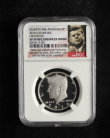 2014-S Kennedy 50th Anniversary High Relief Half Dollar (NGC SP 69 DPL Enhanced Finish) at PristineAuction.com