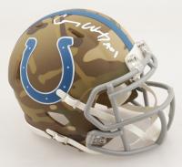 "Carson Wentz Signed Colts Camo Alternate Speed Mini Helmet Inscribed ""AO1"" (Fanatics Hologram) at PristineAuction.com"