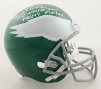 """Vince Papale Signed Eagles Full-Size Helmet Inscribed """"Mr. Invincible"""", """"Fly Eagles Fly"""" & """"Philly's Finest"""" (JSA COA) at PristineAuction.com"""