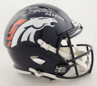"""Courtland Sutton Signed Broncos Full-Size Speed Helmet Inscribed """"Mile High Salute"""" (PSA COA) at PristineAuction.com"""
