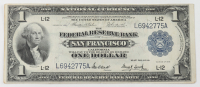 1918 $1 One-Dollar U.S. National Currency Large-Size Bank Note - The Federal Reserve Bank of San Francisco, California at PristineAuction.com