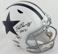 """Drew Pearson Signed Cowboys Full-Size Throwback Speed Helmet Inscribed """"HOF 21"""" (JSA COA) at PristineAuction.com"""