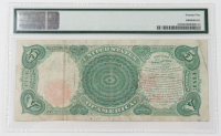 Error Note - PCBLIC Error - 1907 $5 Five-Dollar Red Seal U.S. Legal Tender Large-Size Bank Note (PMG 25) at PristineAuction.com