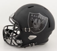 Josh Jacobs Signed Raiders Full-Size Matte Black Speed Helmet (Beckett Hologram & Jacobs Hologram) (See Description) at PristineAuction.com
