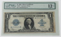 Star Note - 1923 $1 One-Dollar Blue Seal U.S. Large-Size Silver Certificate Bank Note (PMG 12, NET) at PristineAuction.com
