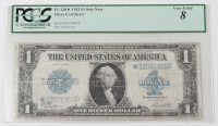 Star Note - 1923 $1 One-Dollar Blue Seal U.S. Large-Size Silver Certificate Bank Note (PCGS 8) at PristineAuction.com