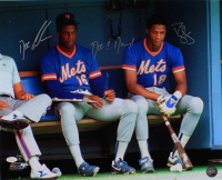 """Dwight """"Doc"""" Gooden & Darryl Strawberry Signed Mets 16x20 Photo Inscribed """"Doc & Darryl"""" (JSA COA) at PristineAuction.com"""