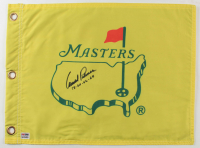 """Arnold Palmer Signed Masters Tournament Pin Flag Inscribed """"58-60-62-64"""" (PSA COA) at PristineAuction.com"""
