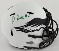 DeVonta Smith Signed Eagles Full-Size Lunar Eclipse Alternate Speed Helmet (Beckett Hologram) at PristineAuction.com