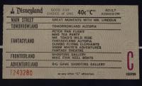 "Disneyland's ""Snow White's Scary Adventures"" 17x25 Print Display with Vintage 'C' Snow White Disneyland Ticket & Souvenir Disney Vintage Bracelet at PristineAuction.com"