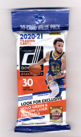 2020-21 Panini Donruss Basketball Cello Jumbo Fat Pack with (30) Cards at PristineAuction.com