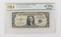1935-G $1 Blue Seal Silver Certificate Bank Note - No Motto (PCGS 63 Choice Uncirculated PPQ) at PristineAuction.com