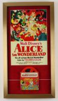 "Disney's ""Alice In Wonderland"" 15x28 Print Display with Vintage Disney 'Alice In Wonderland' 7mm Film Wind Original Box at PristineAuction.com"