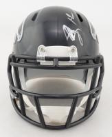 Mohamed Sanu Signed Falcons Speed Mini-Helmet (JSA COA) at PristineAuction.com