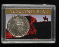 1891-S Morgan Silver Dollar With Display Case at PristineAuction.com
