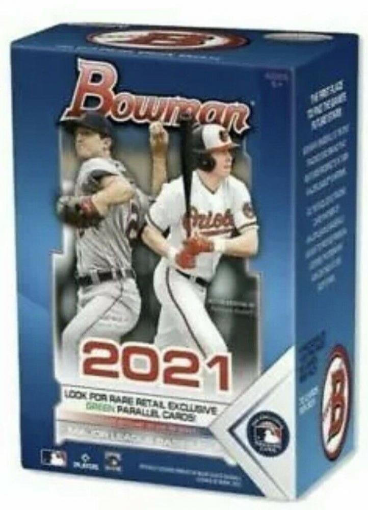 2021 Topps Bowman Baseball MLB Trading Cards Blaster Box with (6) Packs at PristineAuction.com