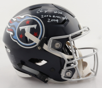 """Chris Johnson Signed Titans Full-Size Authentic On-Field SpeedFlex Helmet Inscribed """"2006 Rush Yds 2009"""" (Beckett COA) (See Description) at PristineAuction.com"""