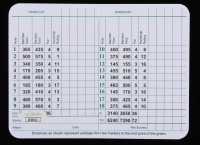Jack Nicklaus Signed Augusta National Golf Club Score Card (JSA COA) at PristineAuction.com