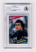 Jim Plunkett Signed 1984 Topps #114 (BGS Encapsulated) at PristineAuction.com