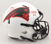 "Deion Branch Signed Patriots Full-Size Lunar Eclipse Alternate Speed Helmet Inscribed ""SB XXXIX MVP"" (Beckett COA) at PristineAuction.com"