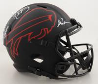 Jim Kelly, Thurman Thomas & Andre Reed Signed Bills Full-Size Eclipse Alternate Speed Helmet (JSA Hologram) at PristineAuction.com