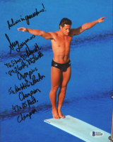 Greg Louganis Signed Team USA 8x10 Photo with Multiple Inscriptions (Beckett COA) at PristineAuction.com