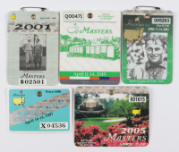 Lot of (5) 1997, 2001, 2002, 2005 & 2019  Masters Tournament Golf Badges (See Description) at PristineAuction.com