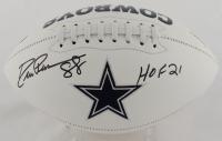 "Drew Pearson Signed Cowboys Logo Football Inscribed ""HOF 21"" (JSA COA) at PristineAuction.com"