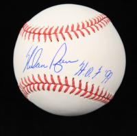 "Nolan Ryan Signed OML Baseball Inscribed ""HOF 99"" (Ryan Hologram) at PristineAuction.com"