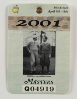 2001 Masters Tournament Golf Badge (See Description) at PristineAuction.com