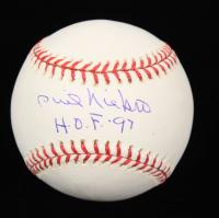 "Phil Niekro Signed OML Baseball Inscribed ""H.O.F.-97"" (Beckett COA) at PristineAuction.com"