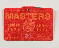 1972 Masters Tournament Golf Badge (See Description) at PristineAuction.com