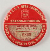 1960 60th U.S.G.A. Open Championship Golf Badge (See Description) at PristineAuction.com