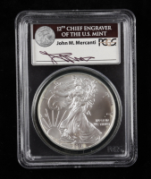 2011-(S) American Silver Eagle $1 One Dollar Coin - Struck at San Francisco, Mercanti Signed Label (PCGS MS69) at PristineAuction.com