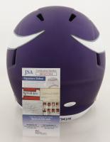 Justin Jefferson Signed Vikings Full-Size Speed Helmet (JSA COA) at PristineAuction.com