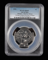 2020 Isle of Man £5 Boudica Warrior Queen 3 oz .999 Fine Silver Coin with Antique Finish - First Day Issue (PCGS MS69) at PristineAuction.com